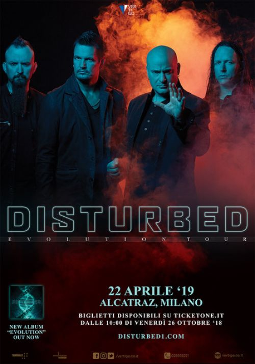 DISTURBED: data italiana, il tour del nuovo album!