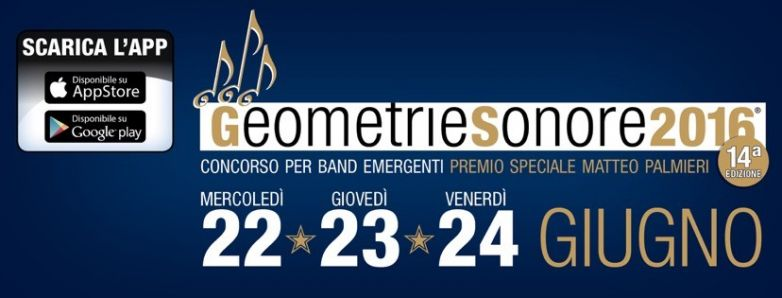 GEOMETRIE SONORE 2016 - LINE UP DELLE BAND IN GARA
