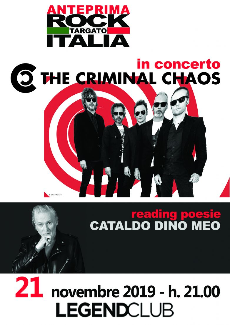 "THE CRIMINAL CHAOS  in concerto presentazione album ""SURREAL REALITY"""