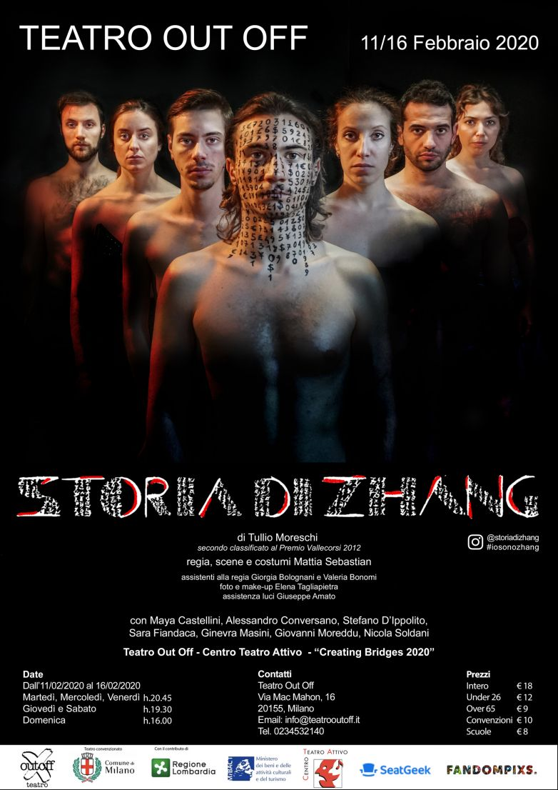 STORIA DI ZHANG in prima nazionale al Teatro Out Off
