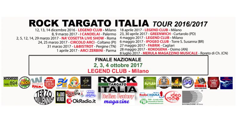 Rock Targato Italia Tour 2016/2017