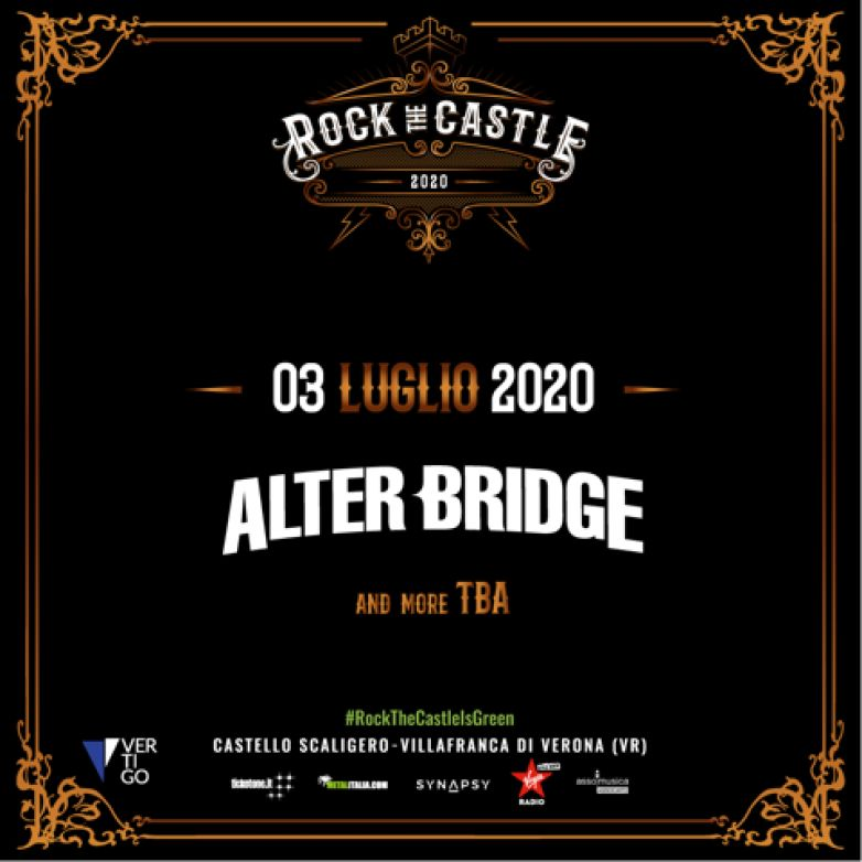 ROCK THE CASTLE 2020: headliner gli ALTER BRIDGE!
