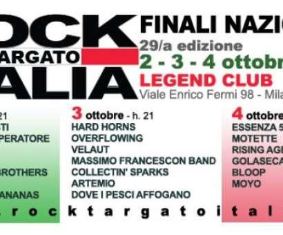 Rock Targato Italia Finali nazionali 29/a edizione Milano - LegendClub 2 - 3 - 4 ottobre  Aperte iscrizioni 30/a edizione
