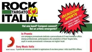32ima edizione di Rock Targato Italia - APERTE ISCRIZIONI