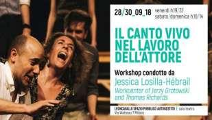 IL CANTO VIVO  NEL LAVORO DELL' ATTORE: Workshop condotto da Jessica Losilla-Hébrail, assistente di Thomas Richards