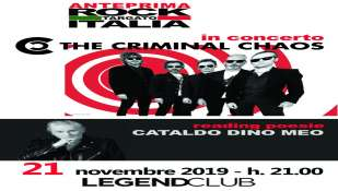 """THE CRIMINAL CHAOS  in concerto presentazione album """"SURREAL REALITY"""""""