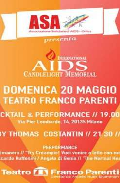 CANDLELIGHT MEMORIAL: 20 maggio evento free, Teatro Franco Parenti, Milano