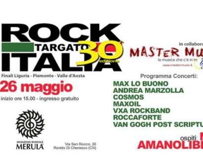 30/a edizione di ROCK TARGATO ITALIA. Le finali di Piemonte, Liguria, Valle d'Aosta il 26 maggio 2018 al Merula di Roreto di Cherasco (CN) alle ore 15.00