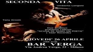 SECONDA VITA in concerto: 26 aprile ore 22.00, BAR VERGA