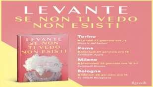 """""""Se non ti vedo non esisti"""": Il primo romanzo di Levante arriva nelle librerie."""