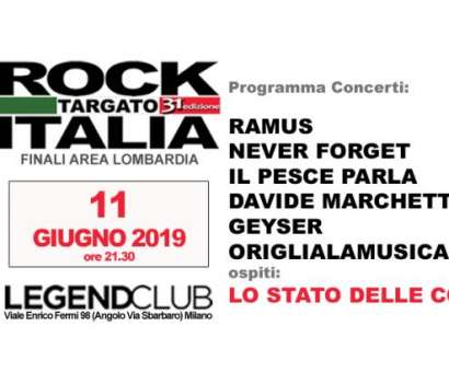 Finali Lombardia 31/a edzione Rock Targato Italia
