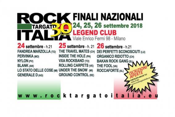 Finali Nazionali ROCK TARGATO ITALIA 30a Edizione