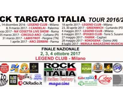 Rock Targato Italia Tour 2016/2017