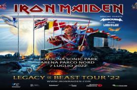 IRON MAIDEN: la nuova data nel 2022 a Bologna Sonic Park